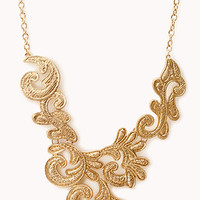 FOREVER 21 Standout Baroque Bib Gold One