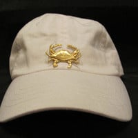 Coastal Home Decor & Gifts - Shop of the Sea — Ladies White Beach Hat with Sealife Accent