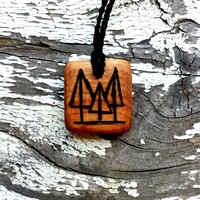 All Natural Tree Nature Wooden Pendant Necklace - The Climbing Stone