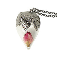 LOVEsick Dried Rose Long Necklace