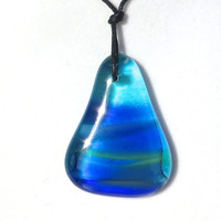 Glass Necklace Shimmering Ocean by The Wild Willows