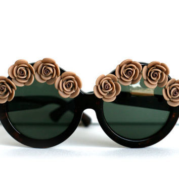 Coffee/Light Brown Colored Flower/Rose Tortoise by thedaisies