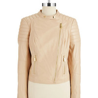 Vince Camuto Leather Moto Jacket