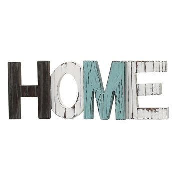HOME Letters Decorative Plaques Signs Rustic Wood Decor Standing Cutout Word Decor Living Room Festival Party Supplies