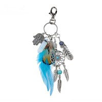 Dream Catcher Key Chain with Natural Opal Stone
