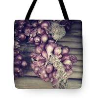 """Red Onions Tote Bag for Sale by Ivy Ho (18"""" x 18"""")"""