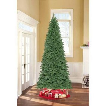 Holiday Time Unlit 9' Fremont Fir Slim Artificial Christmas Tree - Walmart.com
