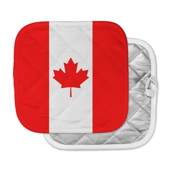 """Bruce Stanfield """"Flag of Canada"""" Red White Pot Holder"""