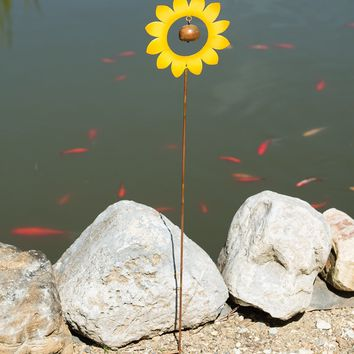 Yellow Flower Garden Stake - New item! Pre-order for August!