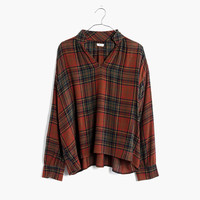 Highroad Popover Shirt in Brentford Plaid : | Madewell
