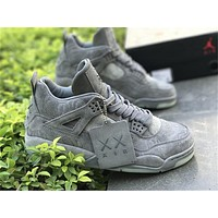 2017 KAWS x Air Jordan Retro 4 Mens Basketball Shoes sneakers size US 5.5-13
