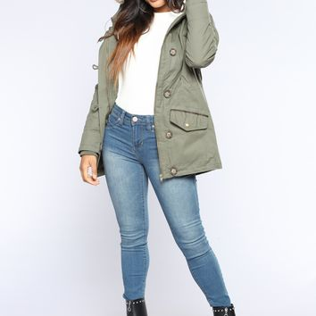 For The Chills Jacket - Olive