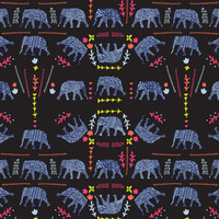 Patterned elephants Art Print by Suburban Bird Designs