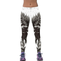 Women YOGA Running Sport Pants Batman High Waist Cropped Leggings Fitness Trousers [8833620684]