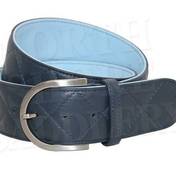 TS Belt Quilted C-2 Sailor/Pale Blue