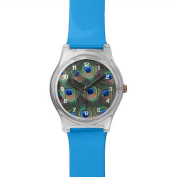 Peacock Feathers Wrist Watch