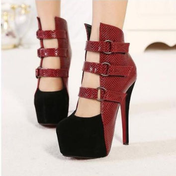 2016 new fashion sexy wedding shoes woman platform red bottom high heels women pumps and women's spring autumn shoes