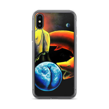 Trippy surreal ALL sizes iPhone Cases The Relentless Predator by Vincent Monaco available for ALL iPhone models.