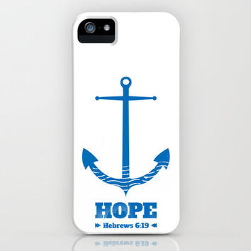 Anchor for the soul. Hebrews 6:19. iPhone Case by Amen | Society6