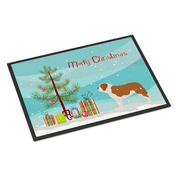 Saint Bernard Merry Christmas Tree Indoor or Outdoor Mat 24x36 BB2994JMAT