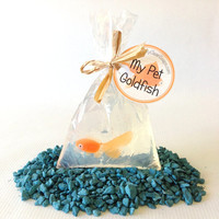 My Pet Goldfish Soap - Carnival Soap Party Favor - Fish in a Bag Soap