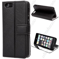 Protective Flip PU Leather Case Cover Shell Guard with Stand for Apple iPhone 5 5S from UltraBarato Gadgets