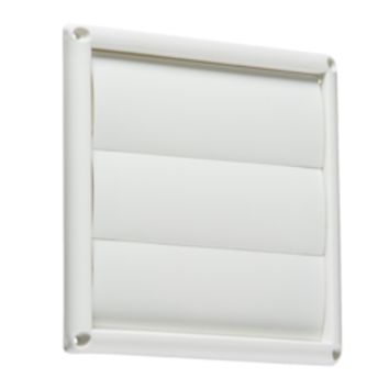 "KB EX008W 150MM/6"" GRAVITY SHUTTER - WHITE"