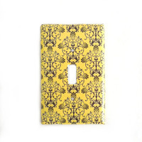 Yellow Dark Gray Switchplate Cover .. on Luulla