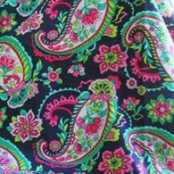 2014 Spring Vera Bradley Fabric Remnant 100 Cotton Petal Paisley 1 Yard