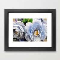 Flowers V Framed Art Print by Anna Garcia Masfret
