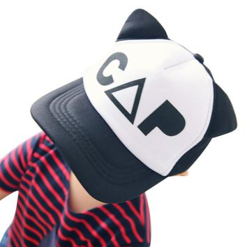 CAP Cute Cat Kid, Baby, Boys, Girls, Children Trucker Hats