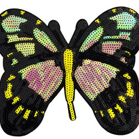 XXL Extra Large Stunning Sequin Butterfly Patch 22cm Applique