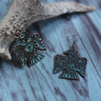 Patina Thunderbird Earrings