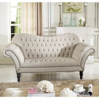 Wholesale Interiors Baxton Studio Bostwick Classic Victorian Loveseat