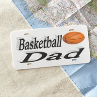 Basketball Dad 3D License Plate