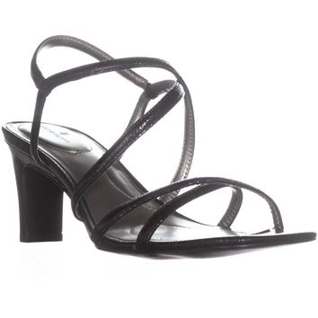 Bandolino Obexx Heeled Strappy Sandals, Black, 10.5 US