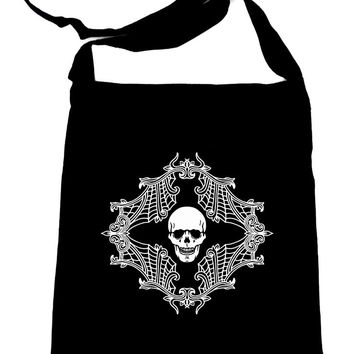 Skull Spiderweb Cameo Crossbody Sling Bag Alternative
