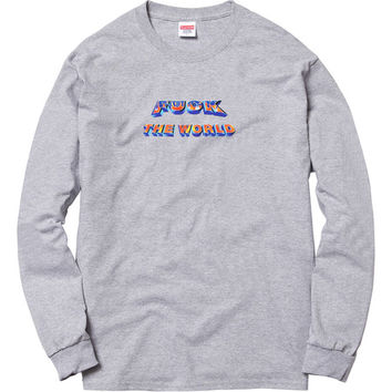 Supreme: FTW L/S Tee - Heather Grey