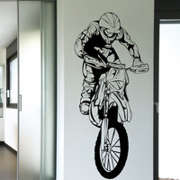 Vinyl Wall Decal Sticker Motocross Jump #1338
