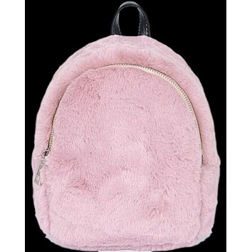 Faux Fur Mini Backpack (12 Color Options!)