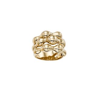 14K Yellow Gold Womens Band Ring