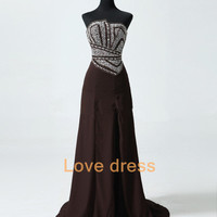 Elegant Beaded Evening Dress Prom Party Long Formal Dresses