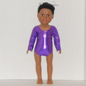 18 inch Doll Clothes Shiny Purple Gymnastic/Dance Leotard fits American Girl Doll