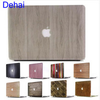 DIY Hard Cases for Macbook Case Wood  13 Pro For Apple Macbook  Logo Air 11 13 12 inch 15 Retina Matte Protective Texture Cover
