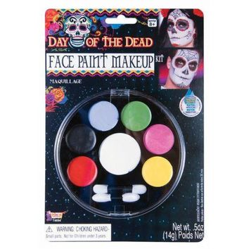 Day of The Dead Face Paint Makeup Costume Makeup Adult Halloween