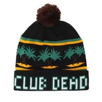 Vanguard Club Dead Cuff Pom Beanie - Mens Hats - Black - One