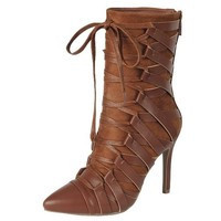 Tan Strappy Bootie