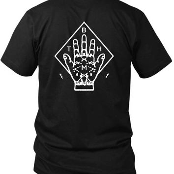 Bring Me The Horizon Bmth Hand 2 Sided Black Mens T Shirt