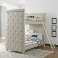Pulaski Madison Youth White Upholstered Wood Twin Bunk Bed with Ladder | Overstock.com Shopping - The Best Deals on Kids' Beds