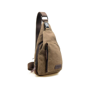Hot 2016 Fashion Vintage Men Crossbody Bags Chest Canvas Water Proof Handbags For Male Military Shoulder Bag Bolsas X0005